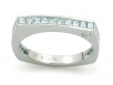Channel-set Princess Cut Wedding Band