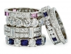 Diamond and Sapphire Eternity Bands