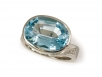 Blue Topaz and Diamond Set in 14k White
