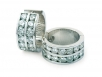 Round Brilliant Channel-set Diamond Hoops