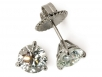 Round Brilliant Diamond Martini Stud Earrings