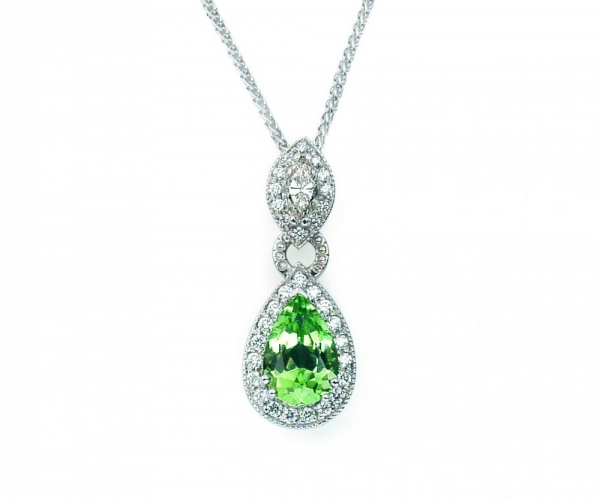 14k White Gold Peridot 2