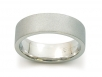 Men's Band with Bead-blast Finish in Palladium and 14k White